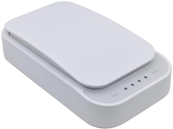 Patona UV sterilizátor pro mobily, respirátory a drobné předměty, Qi nabíjení, USB, bílá