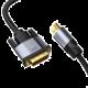 Baseus Enjoyment Series 4K HDMI/DVI kabel, 1m, tmavě šedá