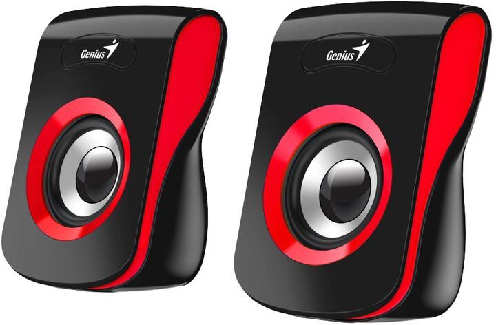 Genius SP-Q180, 2.0, černo/červené