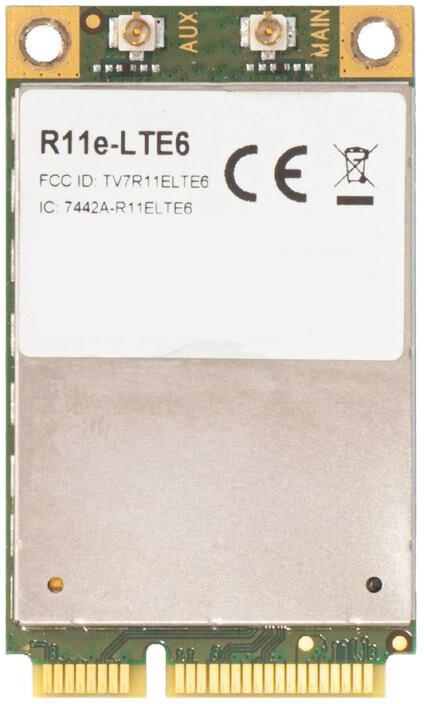 MiniPCIEe MikroTik R11e-LTE6 - 4G LTE, 2xu.Fl