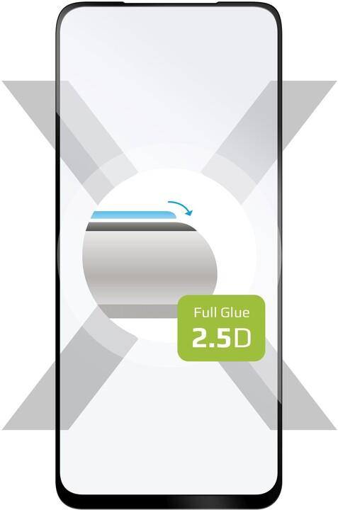 FIXED ochranné tvrzené sklo pro Honor 10X Lite/Huawei P Smart (2021), Full-Cover, 2.5D, černá