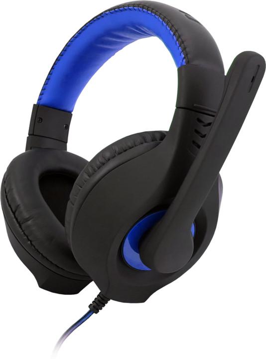 C-TECH Nemesis V2 GHS-14B, černá/modrá