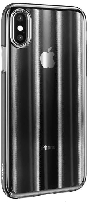 Baseus pouzdro Aurora pro iPhone XS Max, transparentní černá
