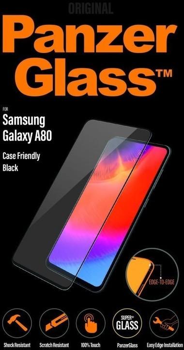 PanzerGlass Edge-to-Edge pro Samsung Galaxy A80, černá