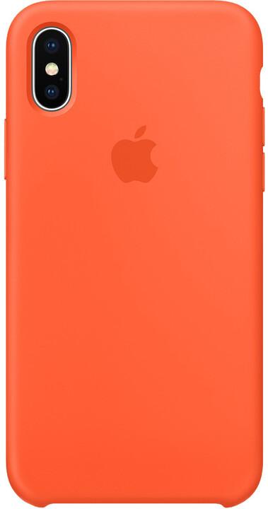 Apple Silikonový kryt na iPhone X, paprikově oranžová
