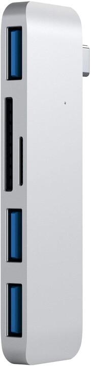 Satechi Type-C USB HUB, stříbrná