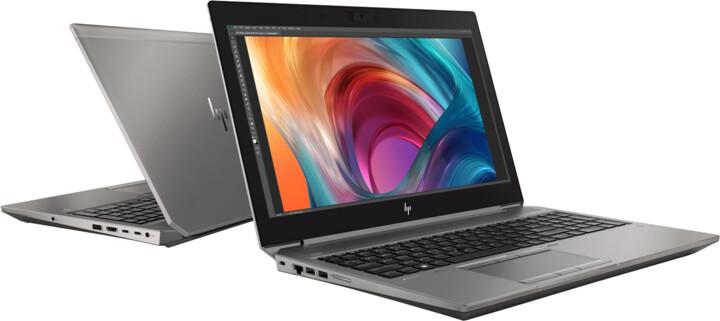 HP ZBook 15 G6, stříbrná