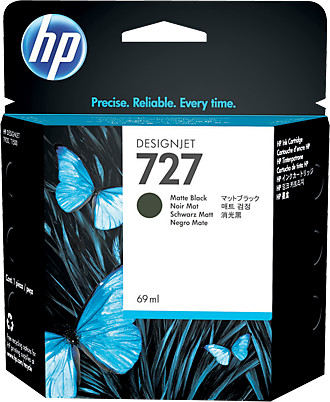 HP C1Q11A náplň č.727, černá matná