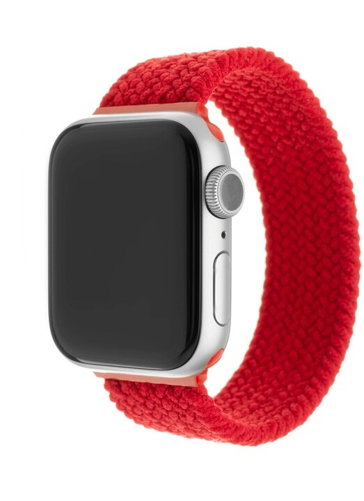 FIXED nylonový řemínek pro Apple Watch, 42/44mm, velikost S, červená