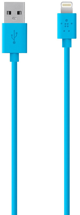 Belkin kabel nabíjecí a synchronizační s Lightning konektorem, 1.2m modrý