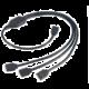 Akasa rozbočovač pro ARGB LED pásky, 1xF, 3xM, 50cm, černý (pro Asus, Asrock, Gigabyte, MSI)