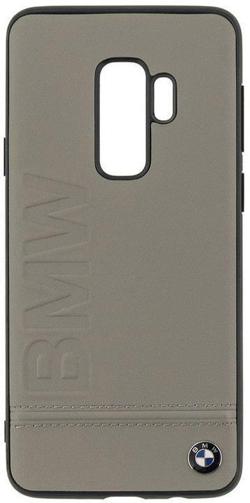 BMW Signature Real Leather Hard Case pro Samsung G965 Galaxy S9 Plus - Taupe