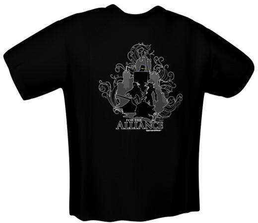 Tričko For the Alliance, černé (XL)