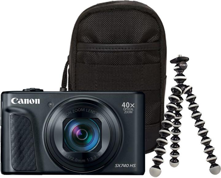 Canon PowerShot SX740 HS, Travel Kit, černá