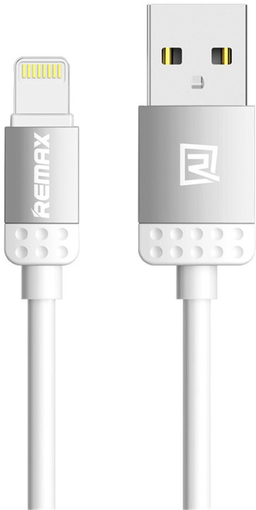 Remax Lovely datový kabel s lightning pro iPhone 5/6, 1m, šedá
