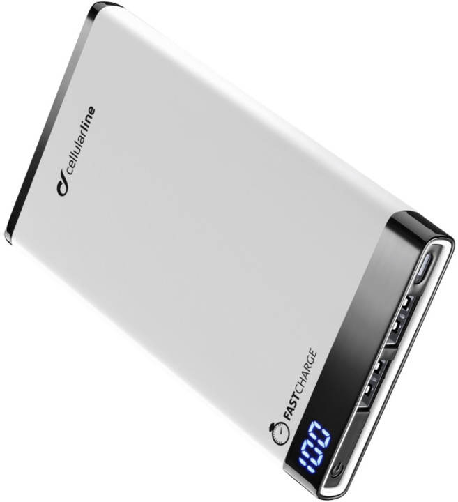 CellularLine FREEPOWER MANTA, 6000mAh, bílá