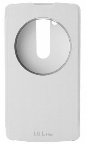 LG QuickCircle CCF-550 flipové pouzdro pro LG L Fino, bílá