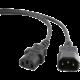 C-TECH kabel síťový, prodlužovací, 3m VDE 220/230V napájecí
