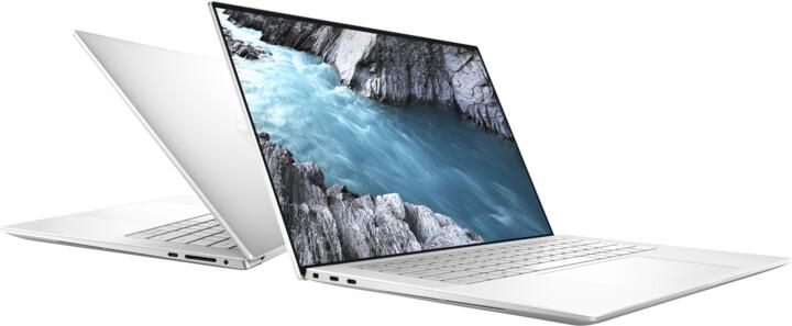 Dell XPS 15 (9500) Touch, stříbrná