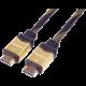 PremiumCord GOLD HDMI High Speed + Ethernet kabel, zlacené konektory, 2m