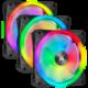 Corsair iCUE QL120 RGB, 3x120mm, Lighting Node CORE, černý