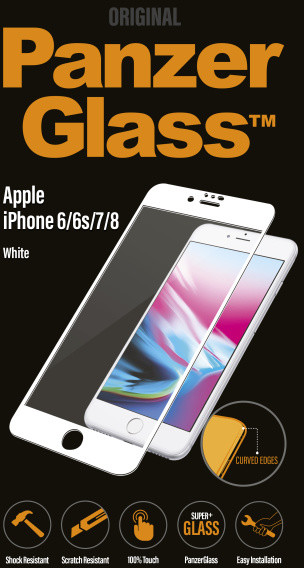 PanzerGlass Premium pro Apple iPhone 6/6s/7/8, bílé
