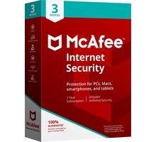McAfee Internet Security - 3 licence/1 rok - elektronická
