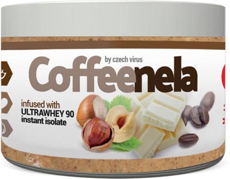 Coffeenela - Lískové ořechy, bílá belgická čokoláda. protein a čerstvá káva, 500g