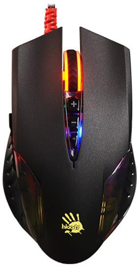 A4Tech Bloody Q50 Neon X'Glide, černá
