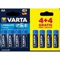 VARTA baterie Longlife Power AA, 4+4ks