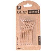 """Mezizubní kartáček SOFTdent BAMBOO, """"L""""systém, S - 0,5 mm, 6 ks - 8594027314810 + SOFTdent BAMBOO - mezizubní kartáček """"L"""" 0,5 mm, 6 ks - v hodnotě 110 Kč"""