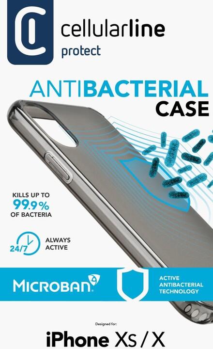 Cellularline ochranný kryt pro iPhone X/XS, antimikrobiální, černá