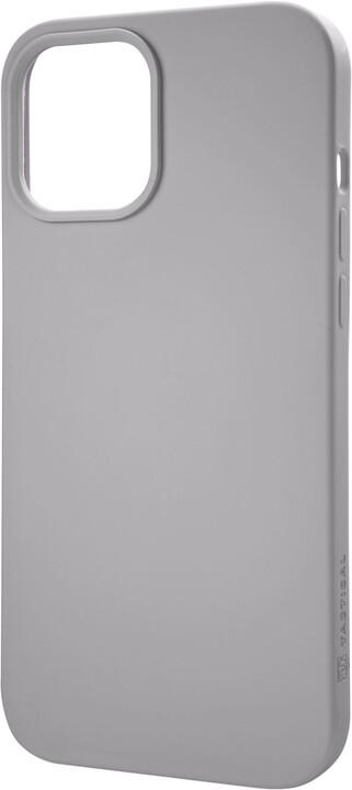 "Tactical silikonový kryt Velvet Smoothie pro iPhone 12/12 Pro (6.1""), šedá"