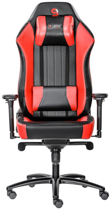 SPC Gear SR700 RD, kožená, červená