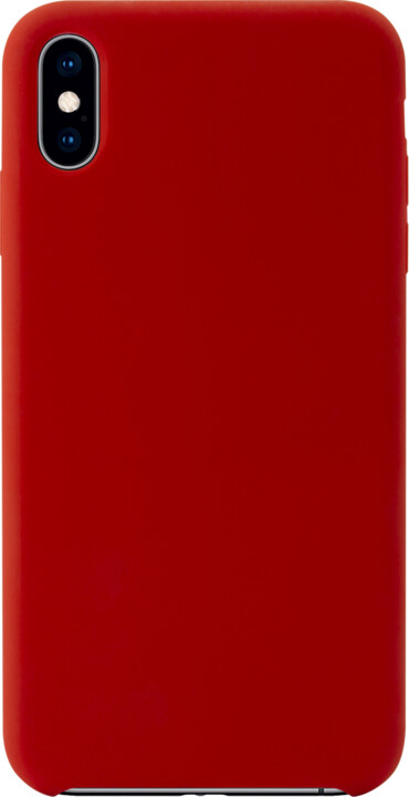 EPICO Silikonový kryt pro iPhone XS Max, červený