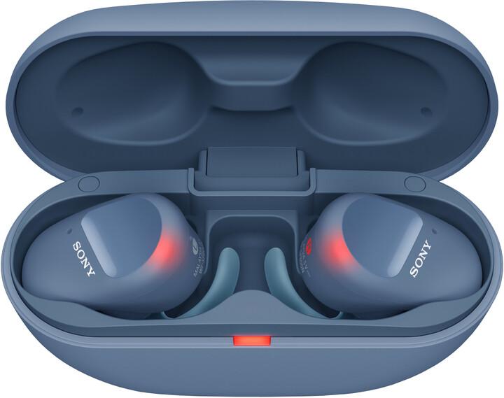 Sony WF-SP800N, modrá