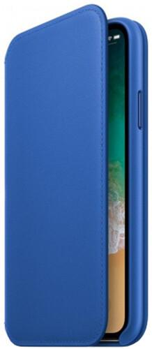 Apple iPhone X Leather Case, elektro modrá