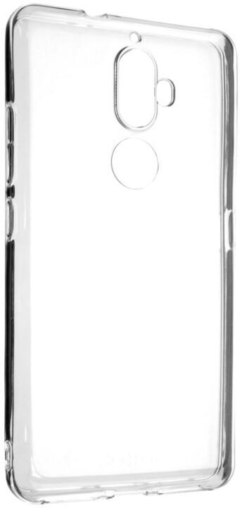 FIXED Skin ultratenké TPU gelové pouzdro pro Lenovo K8 Plus, 0,5 mm, čiré