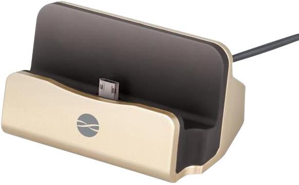 Forever DS-01 nabíjecí stojánek TFO pro microUSB, zlatý