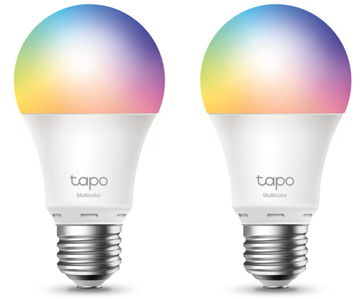 TP-LINK Tapo L530E chytrá Wi-Fi LED žárovka barevná, 2500K-6500K , E27, 2ks