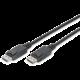 Digitus kabel DisplayPort 1.2, M/M, se západkou, 1m, černá