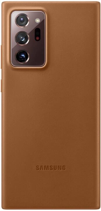 Samsung kožený kryt pro Samsung Galaxy Note20 Ultra, hnědá