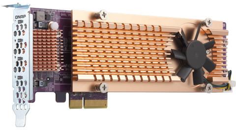 QNAP QM2-4P-342 - Quad rozšiřující karta pro disky SSD M.2 2280 PCIe, (Gen3 x2)