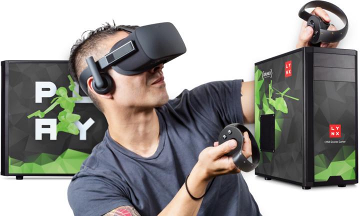 LYNX Virtuální pokojíček: LYNX Grunex Gamer 2018 + Oculus Rift & Touch