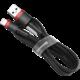 Baseus odolný nylonový kabel USB Lightning 1.5A 2M, červená + černá