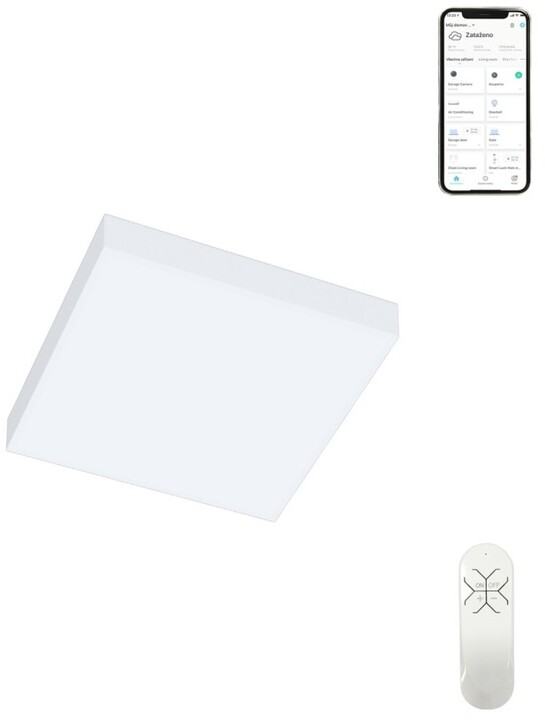 IMMAX NEO PLANO Smart stropní svítidlo 30x30cm 20W 1400lm bílé Zigbee 3.0