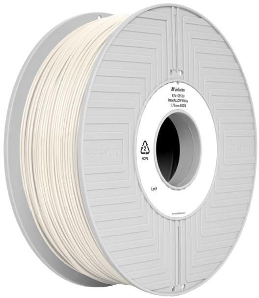 Verbatim tisková struna (filament), PRIMALLOY, 1,75mm, 500g, bílá