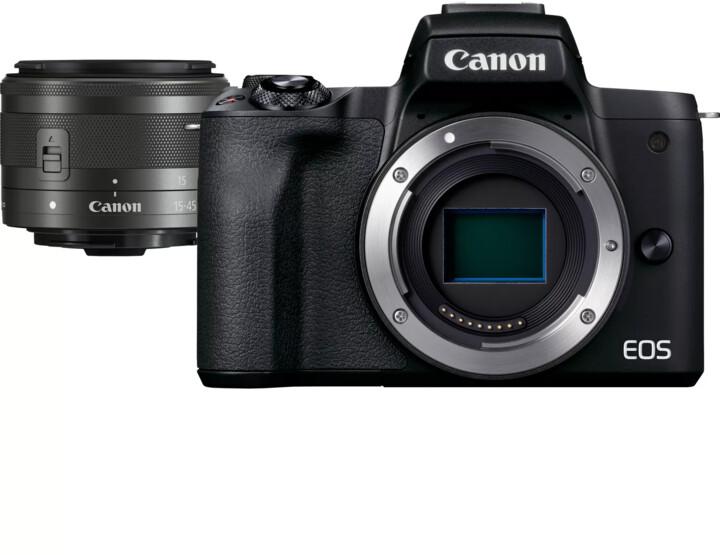 Canon EOS M50 Mark II, černá + EF-M 15-45mm IS STM
