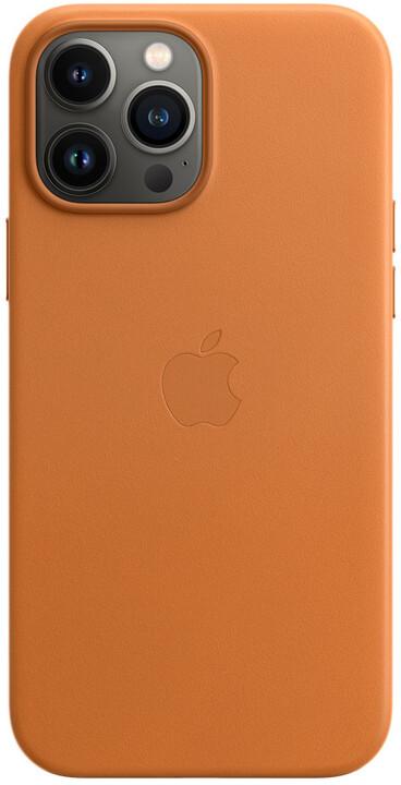 Apple kožený kryt s MagSafe pro iPhone 13 Pro Max, zlatohnědá