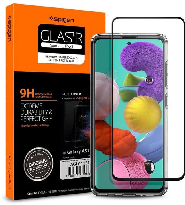 Spigen ochranné sklo FC pro Samsung Galaxy A51, černá